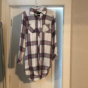 Rails plaid shirt dress